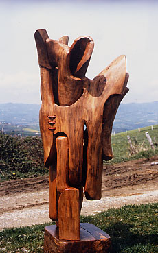 Les sculptures de Georges, sur place