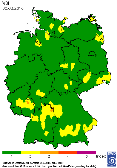 FWI - FIRE INDEX GERMANIA.