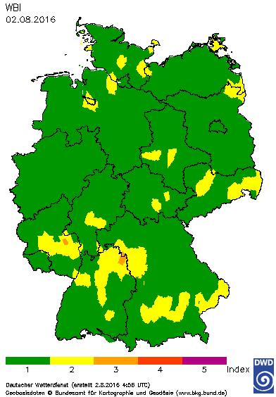 FWI - FIRE INDEX GERMANIA.