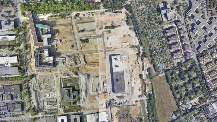Orthomap von 20 Hektar Baustelle (260 Fotos)