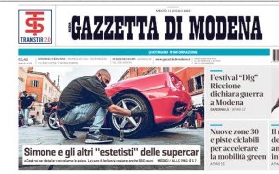 Siamo in prima pagina sulla Gazzetta di Modena (11/07/2020)