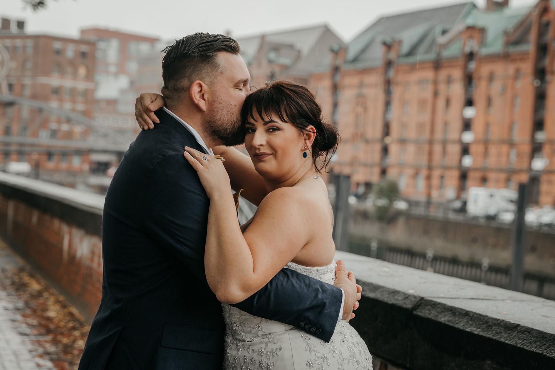 Brautpaar Plussize schulterfreies Kleid