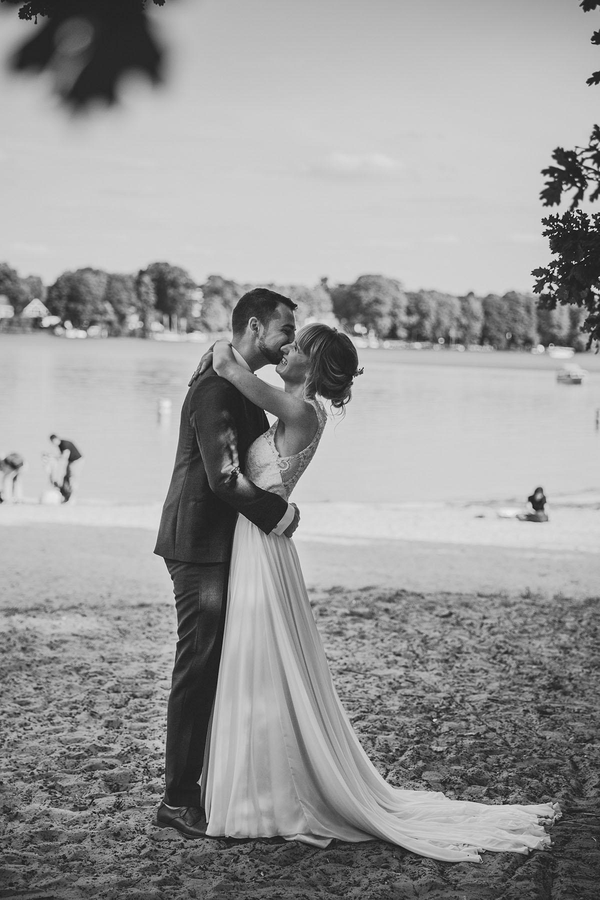Hochzeit am See in Hamburg