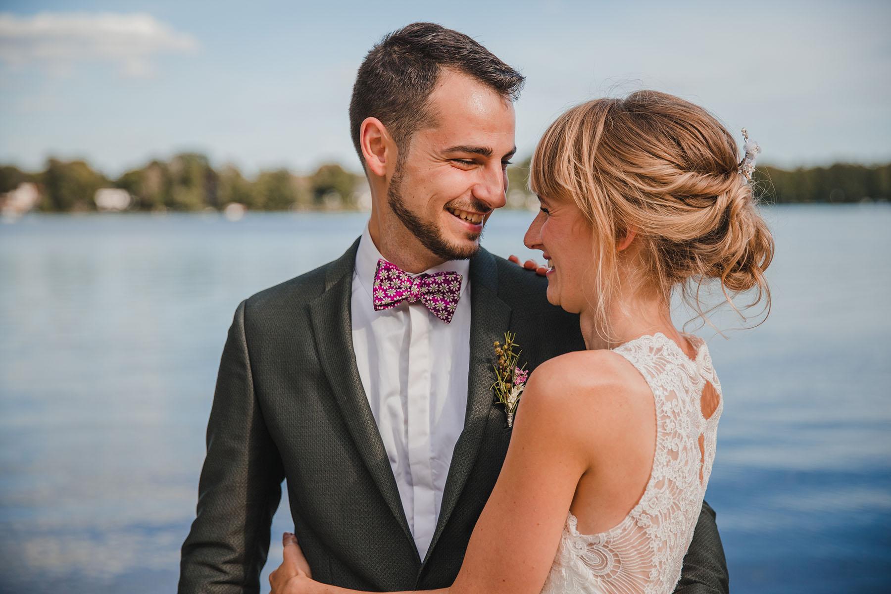 Hochzeitsfotos am See in Hamburg