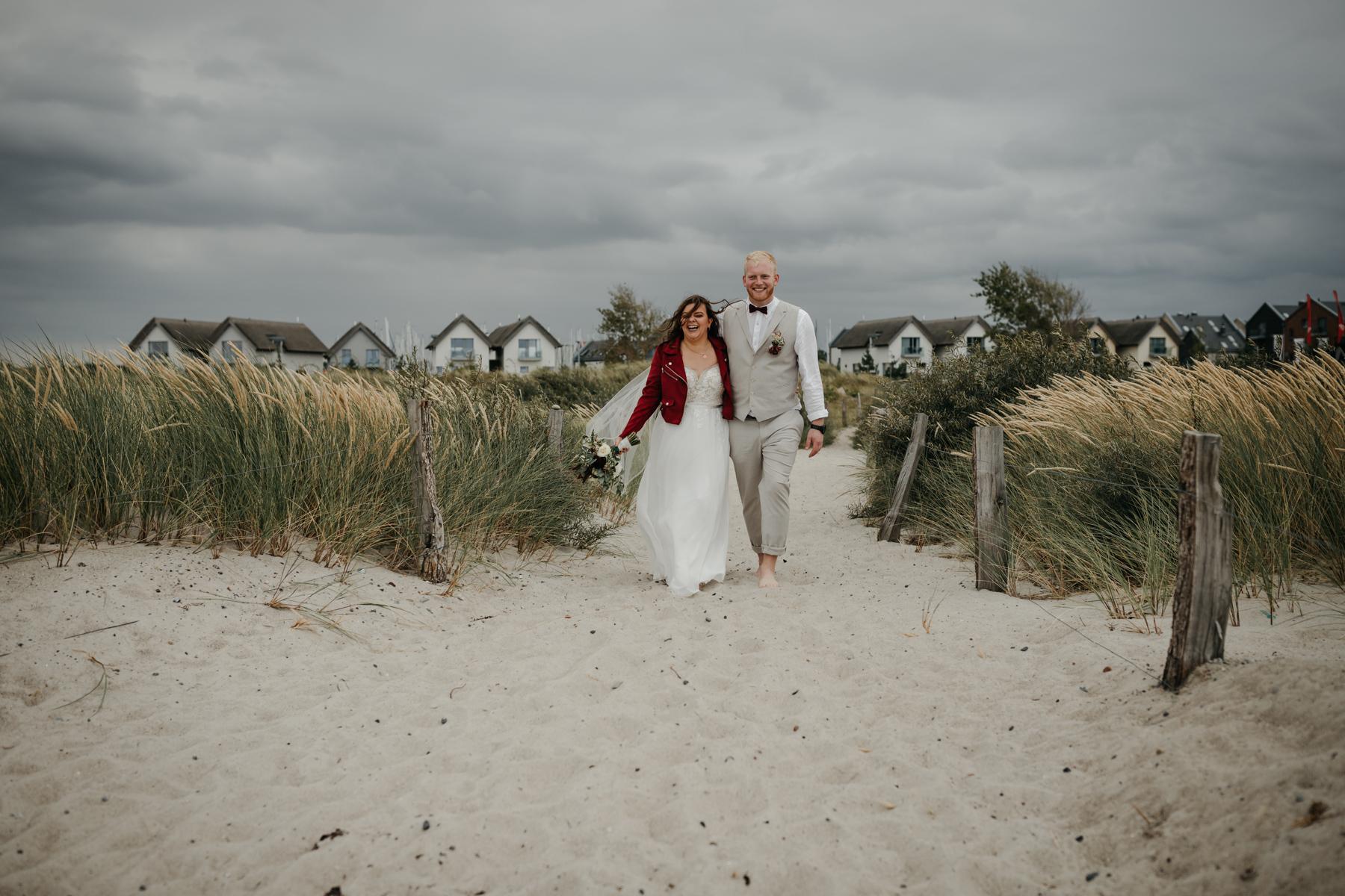 Brautpaarfotografie am Strand