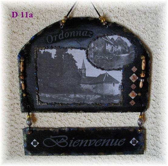 D 11a   Ordonnaz  Bienvenue   30 x 32.5  cm