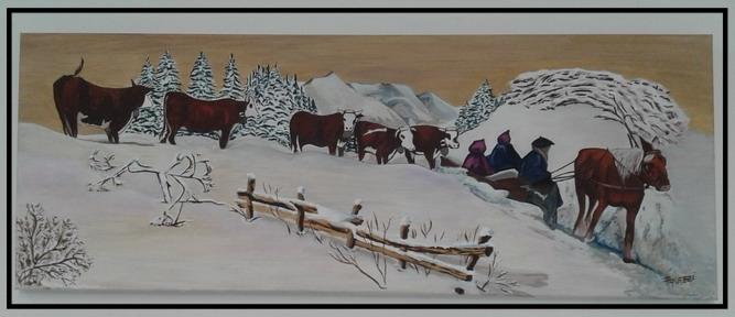 Une poya (alpage en hiver)