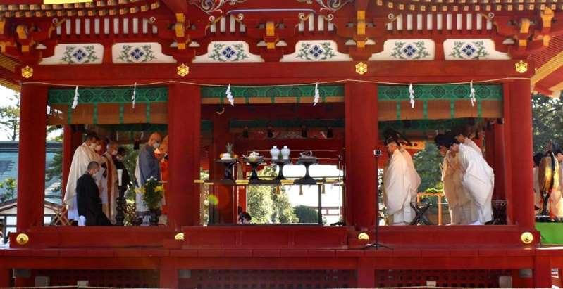 東日本大震災10年追悼 鎌倉・鶴岡八幡宮で祈願祭