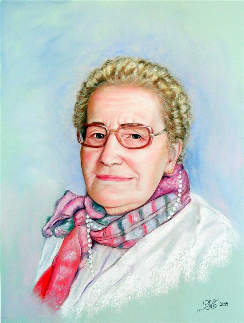 Portrait with Pastel