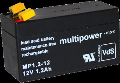 multipower mp1 2 12 blei akku 12volt 1200mah batterie. Black Bedroom Furniture Sets. Home Design Ideas