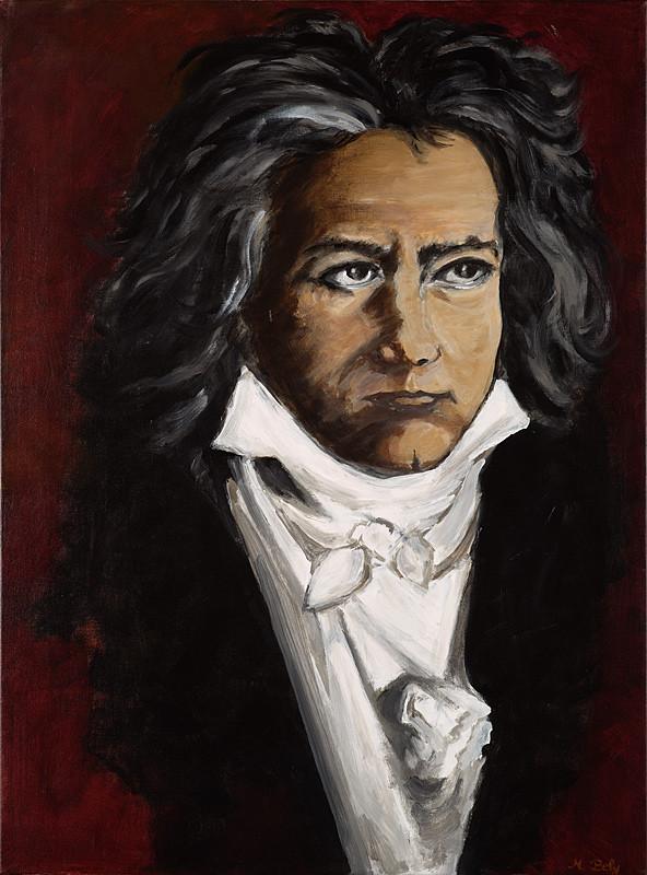 """""""Beethoven"""" 73x54 acrylique sur toile de lin 2010 - Collection privée"""