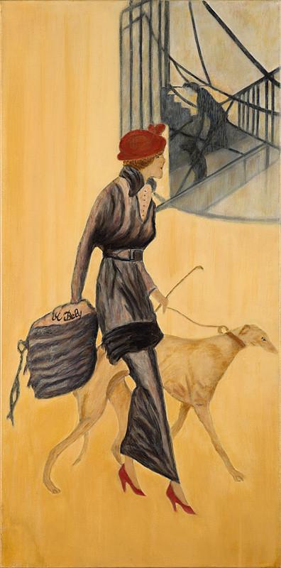 """""""Le miroir de coco"""" 80x40 Huile sur toile de lin 2011 - Collection privée"""