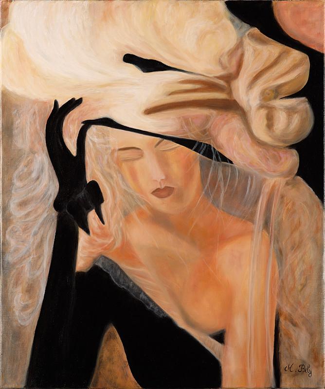 """""""Frisson"""" 60x50 huile sur toile de lin 2014"""