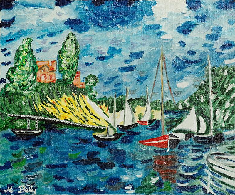 """""""Claude Monet"""" 40x33 Huile sur toile"""