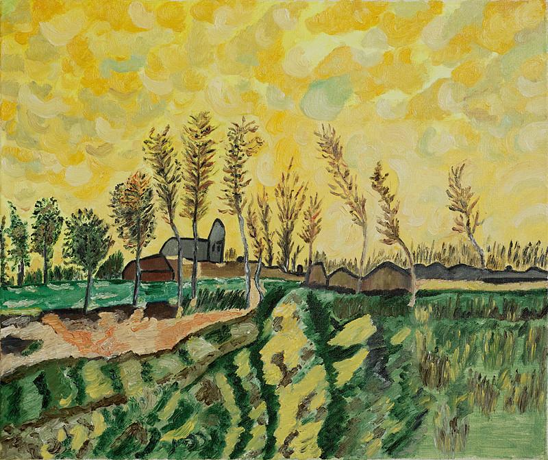 """""""Vincent Van Gogh"""" 55x46 Huile sur toile - Collection privée"""