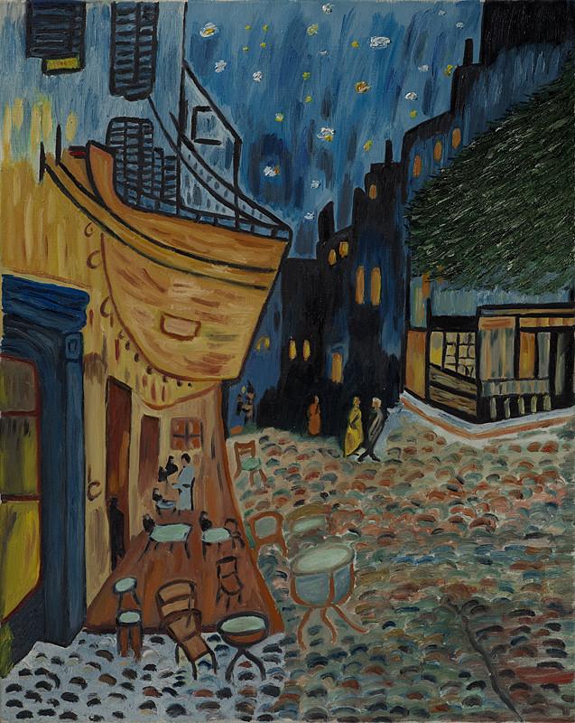 """""""Vincent Van Gogh"""" 40x50 Huile sur toile"""
