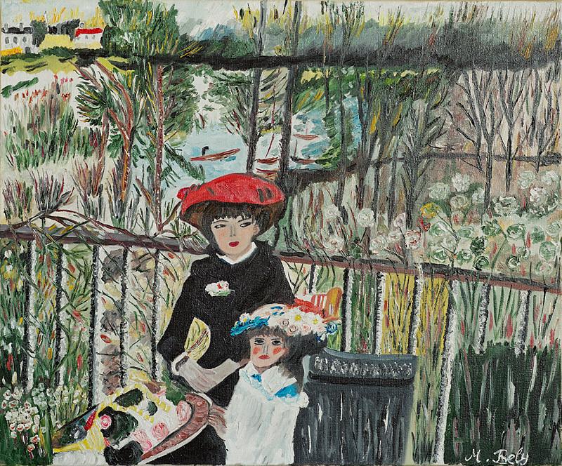 """""""Auguste Renoir"""" 46x38 Huile sur toile"""