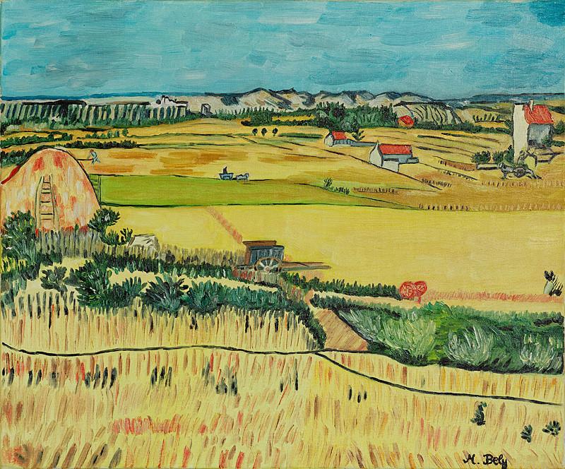"""""""Vincent Van Gogh"""" 46x55 Huile sur toile"""