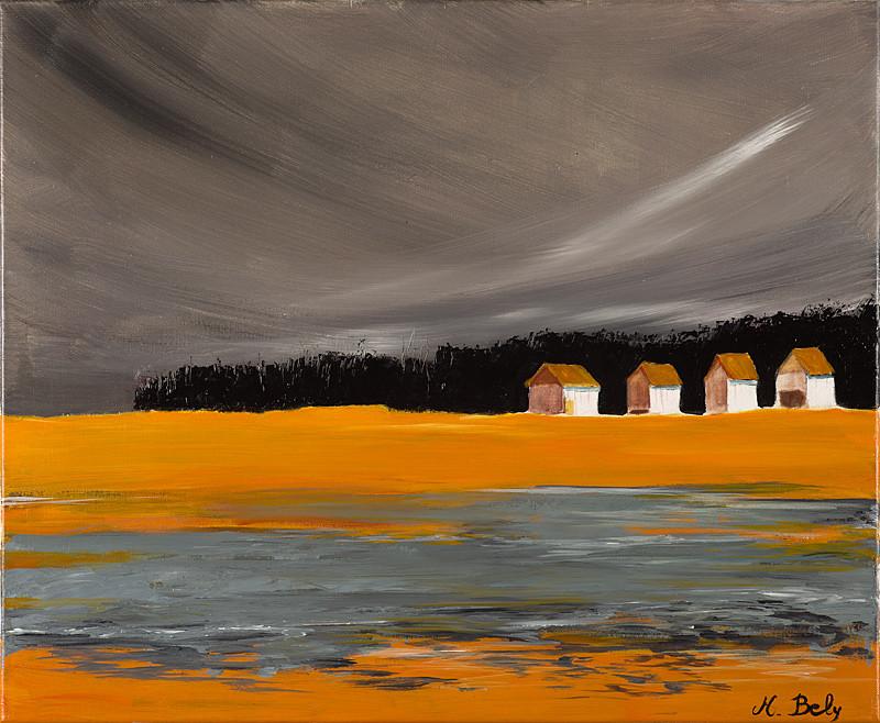 """""""Orage"""" 60x73 Acrylique sur toile de lin 2010 - Collection privée"""