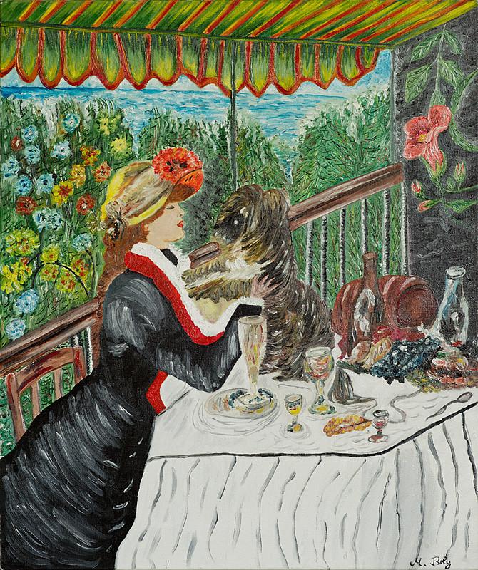 """""""Auguste Renoir"""" 46x55 Huile sur toile"""