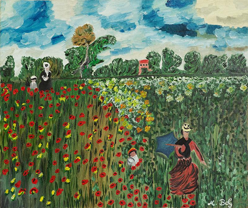 """""""Claude Monet"""" 55x46 Huile sur toile"""