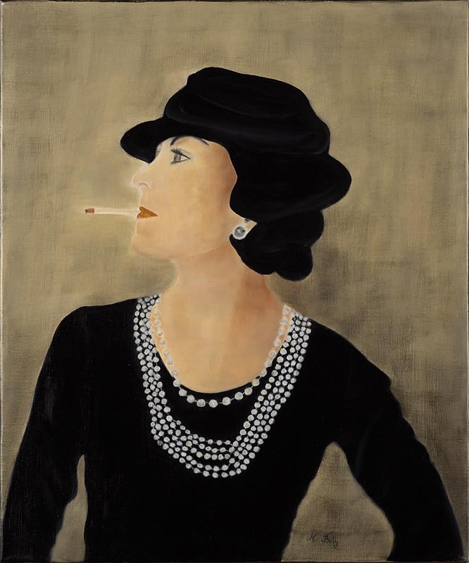 """""""Chanel"""" 50x100 huile sur toile de lin 2015 - Collection privée"""