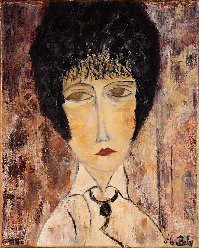 """""""Portrait"""" 41x33 Huile sur toile de lin 2011 - Collection privée"""
