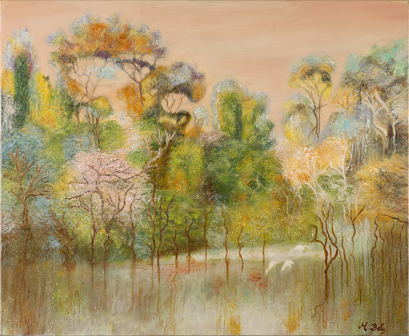 """""""Et va naissant..."""" 60x73 Huile sur toile de lin 2012 - Collection privée"""
