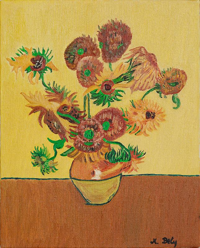 """""""Vincent Van Gogh""""40x33 Huille sur toile"""
