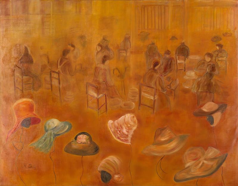 """""""Les anges de l'éternelle coiffe"""" 114x146 Huile sur toile de lin 2014"""