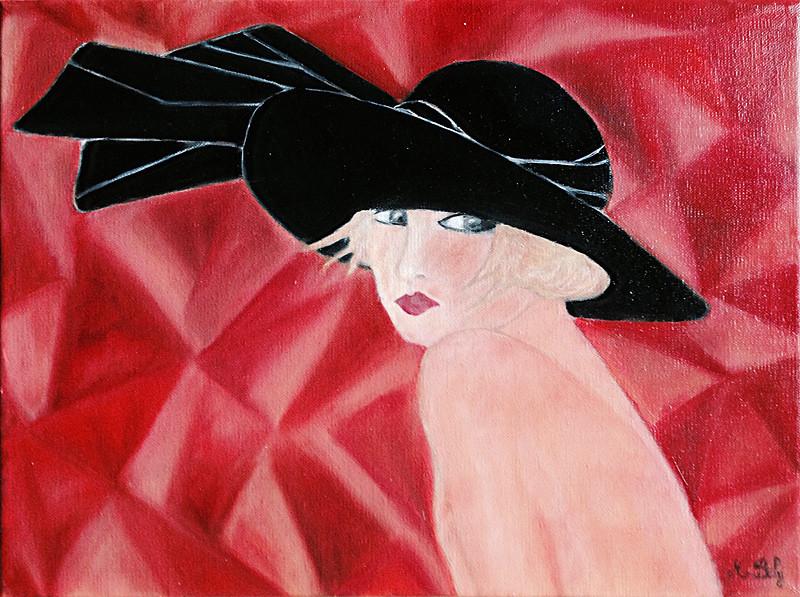 """""""Rosa"""" 40x30 Huile sur toile de lin 2014 - Collection privée"""