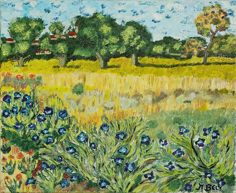 """""""Vincent Van Gogh"""" 60x50 Huile sur toile"""