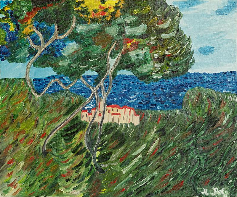 """""""Claude Monet"""" 46x38 Huile sur toile"""