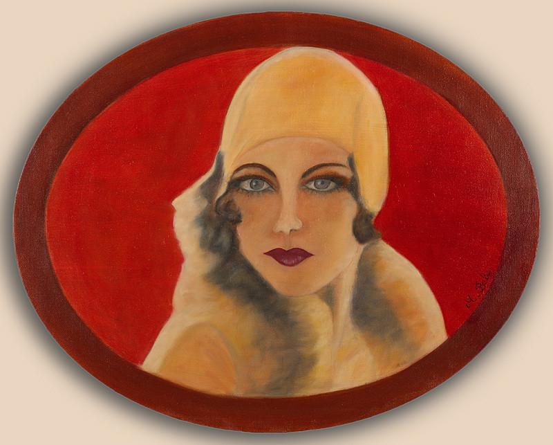 """""""Anna B""""  50x40 (ovale) Huile sur toile de lin 2015 - Collection privée"""