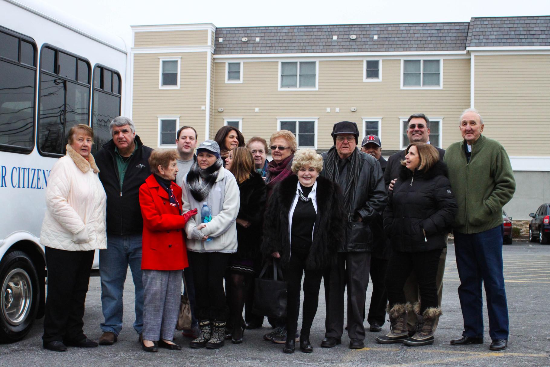 Township officials and senior citizens rejoice