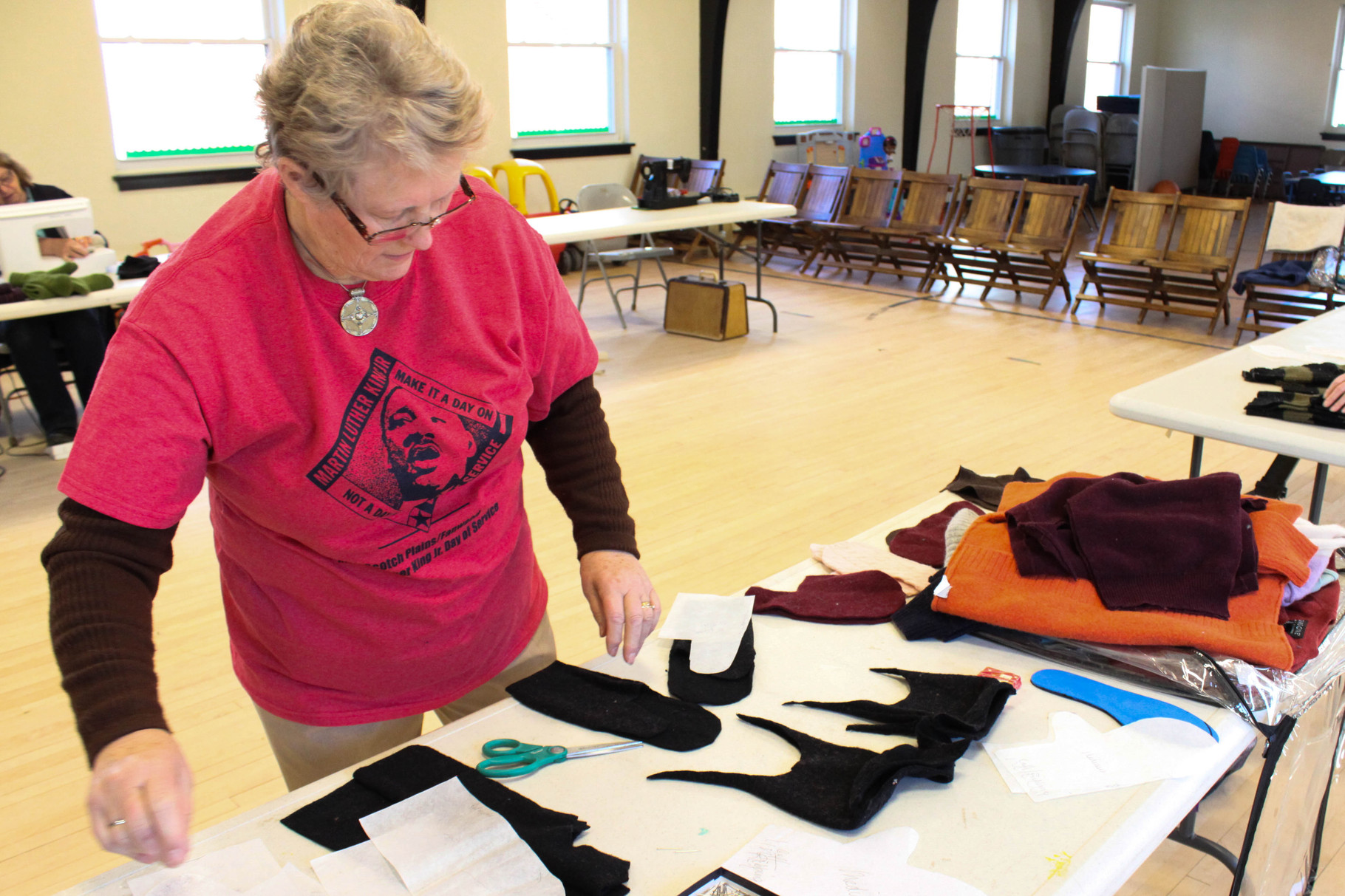 Mittens were made at Fanwood Presbyterian Church to be donated
