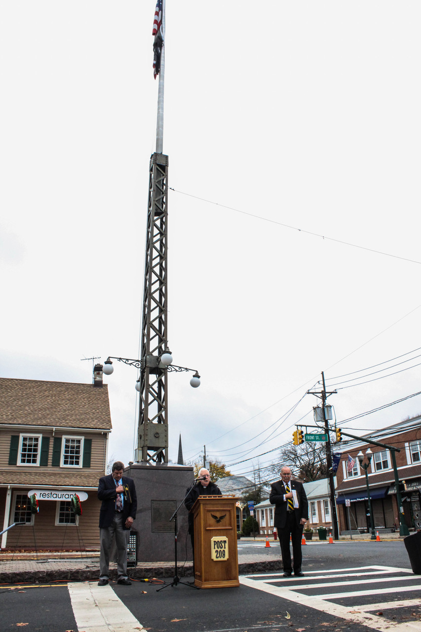 Services were held at Veterans Monument on Front Street