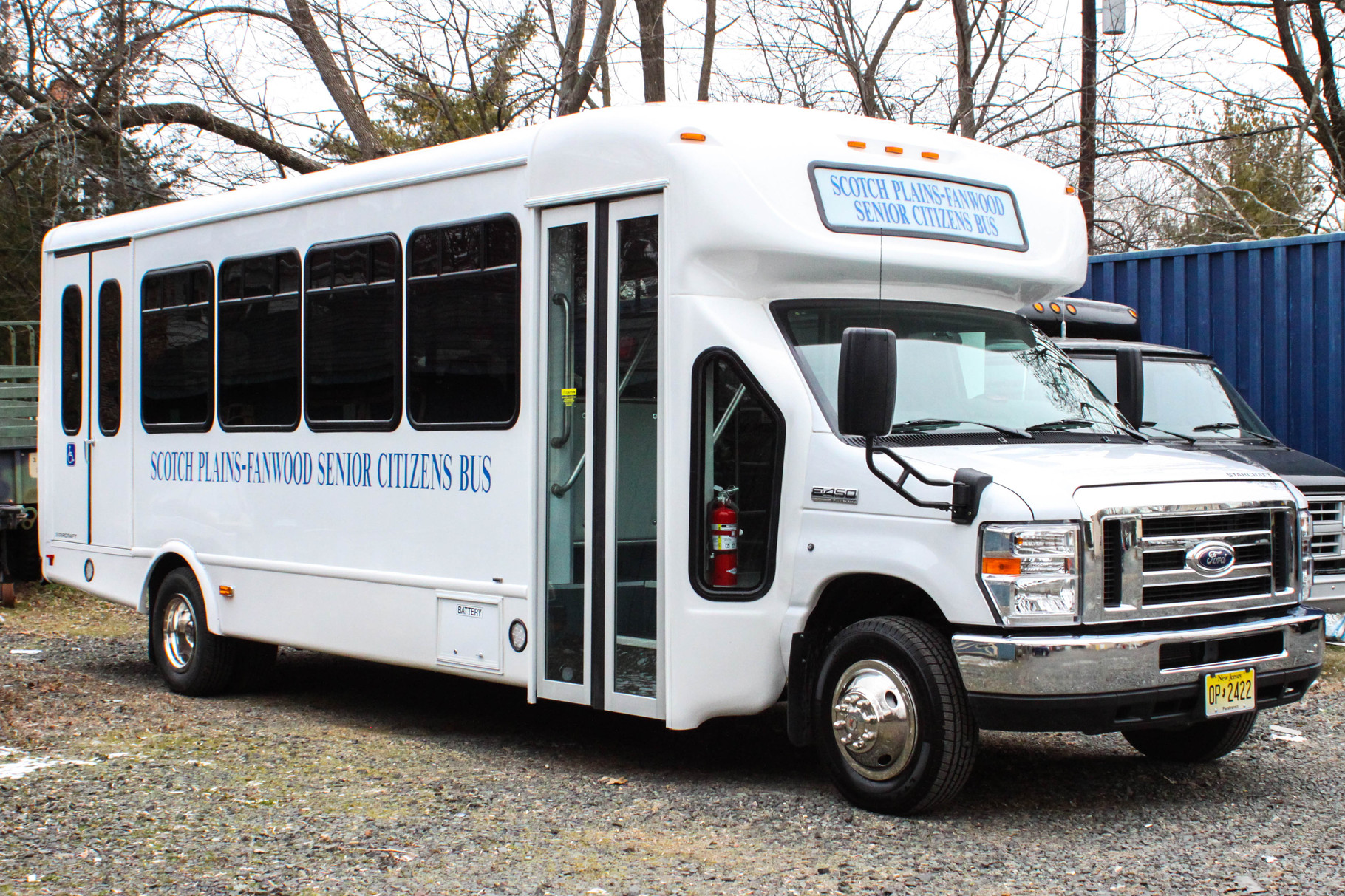 The new Scotch Plains-Fanwood senior citizen bus features 18 passenger seats and a hydraulic lift for handicapped accessibility
