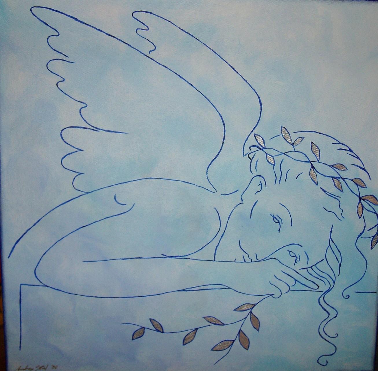 Blauer Energie Engel