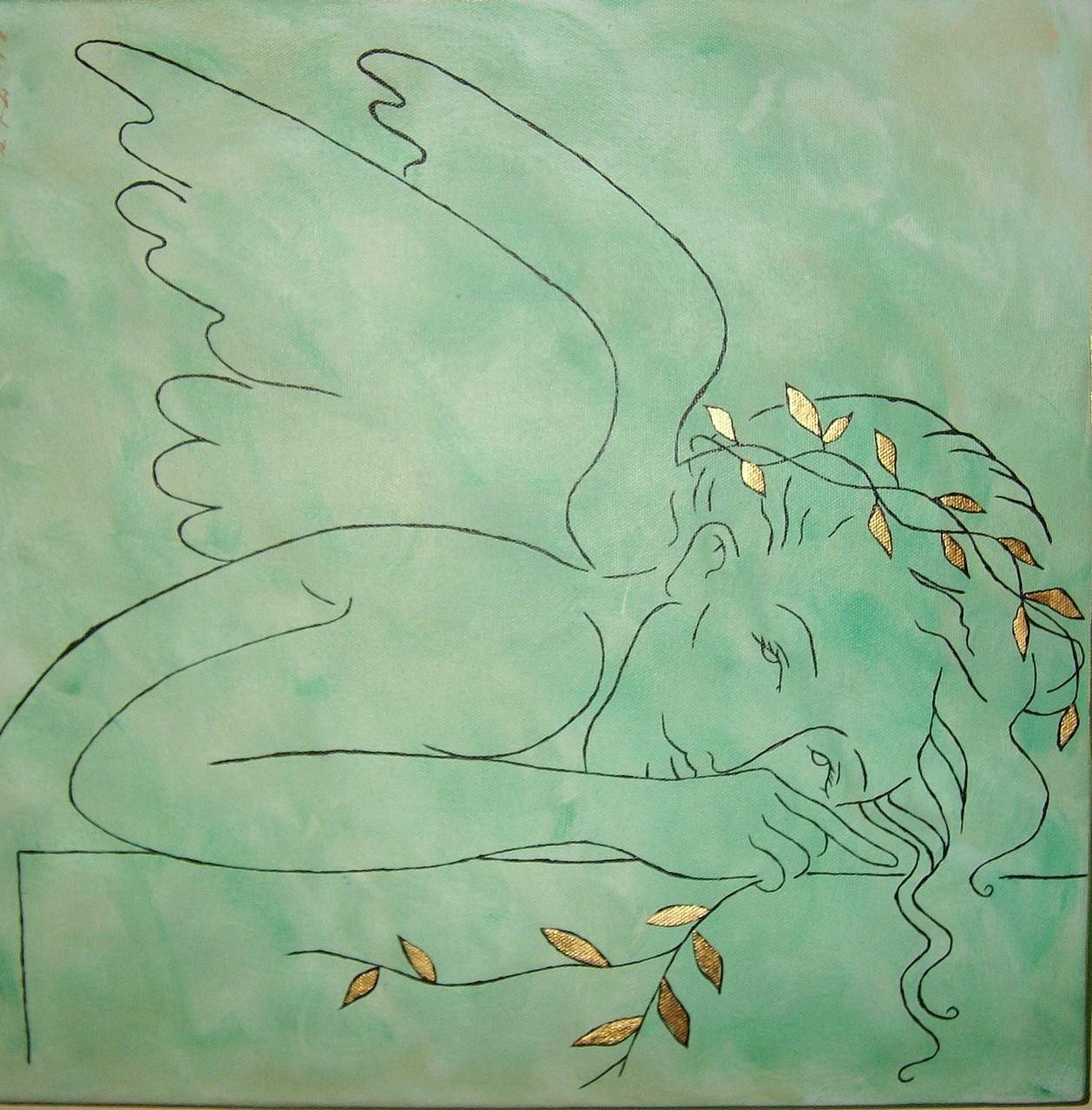 Grüner Energie Engel