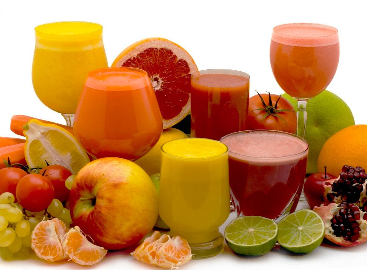 Variedad de zumos naturales