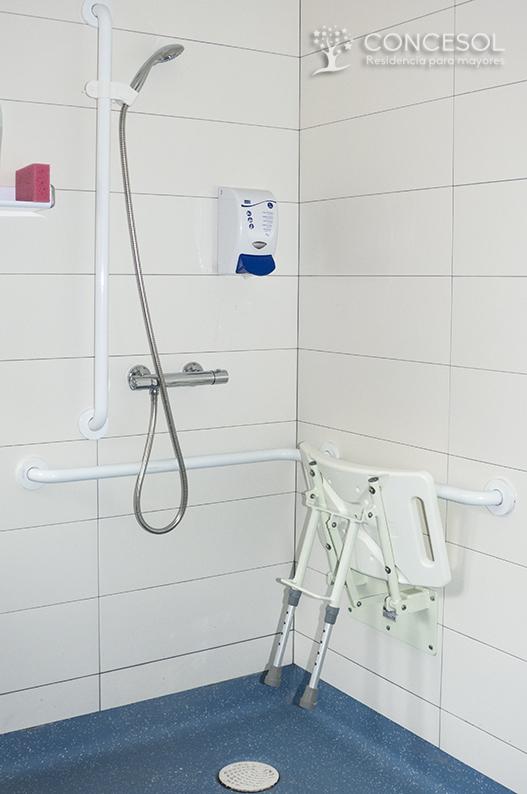 Ejemplo de duchas adaptadas