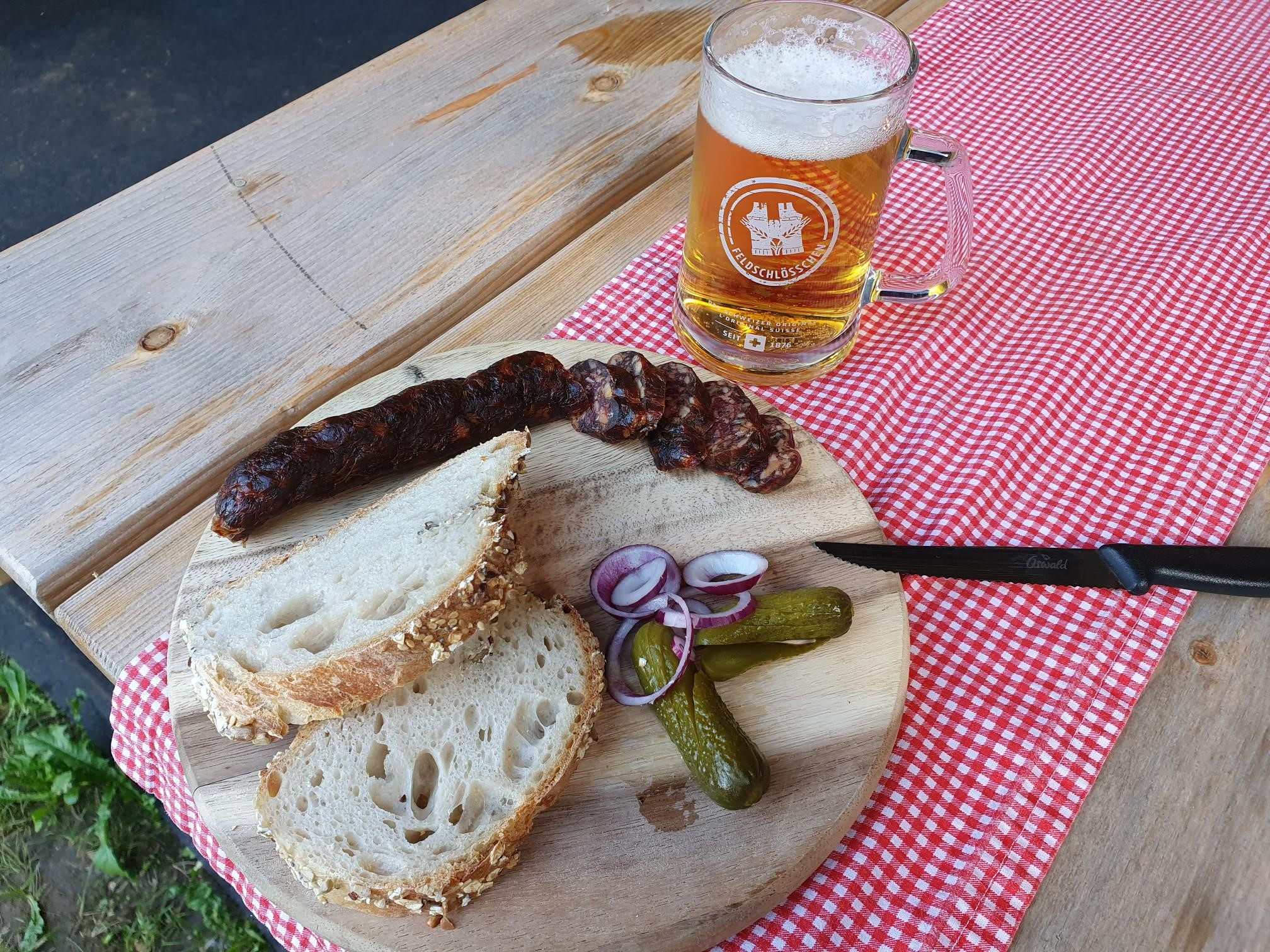 Haselhof Rauchwurst mit kl. Bier