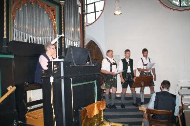 9. Juli 2011 zum Abschluß der Renovierungsarbeiten in St. Vitus Gilching