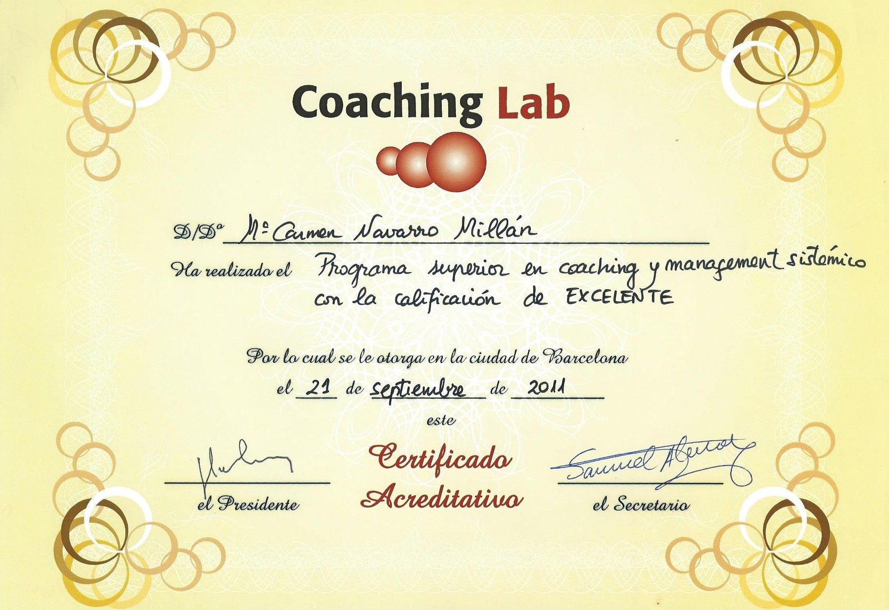 Programa superior en coaching y management sistémico