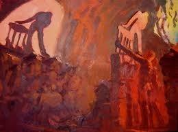 Ilustración de las sombras reflejadas por los hombres en la Caverna de Platón