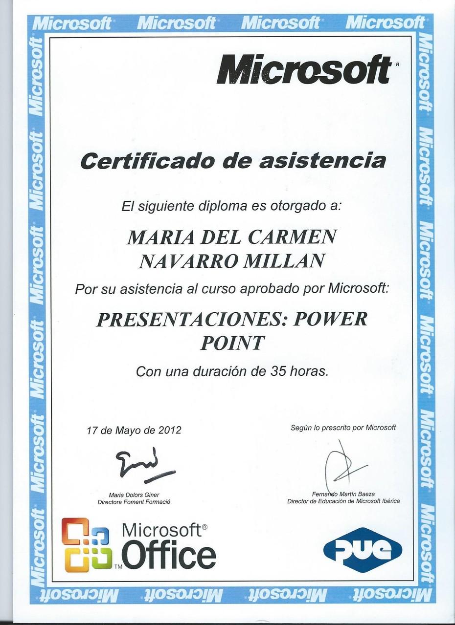 Diploma Microsoft PPS