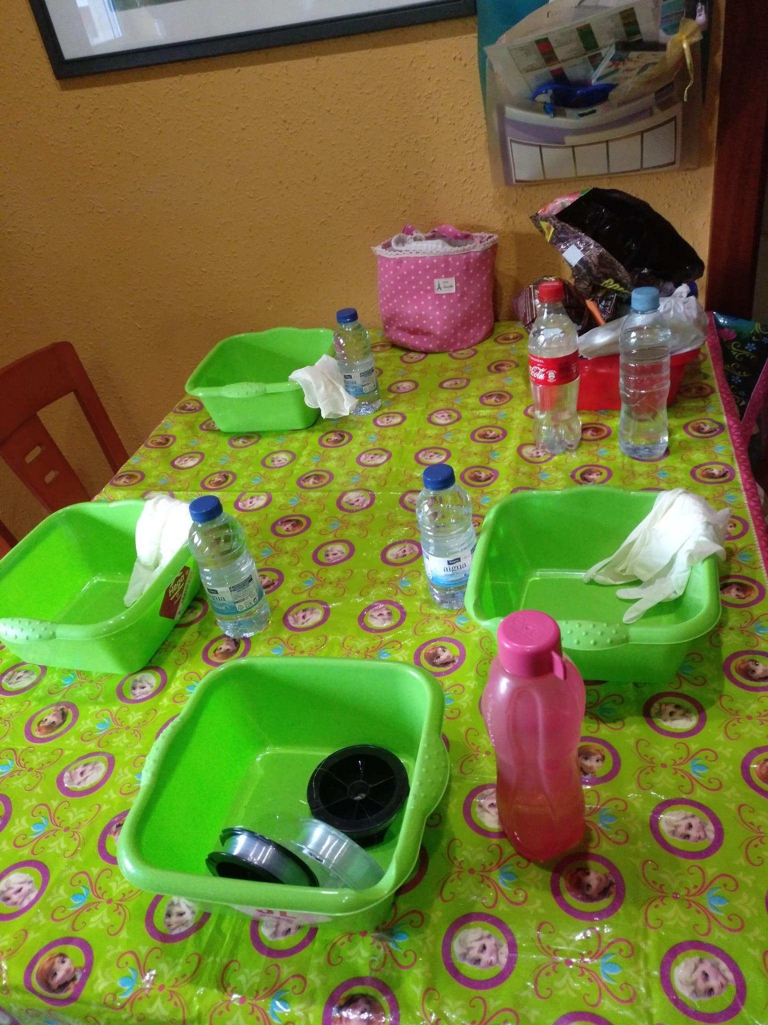 Mesa para kokedamear