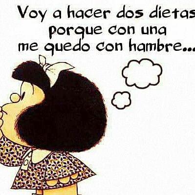 Las dietas y yo no congeniamos. Mafalda se queda con hambre