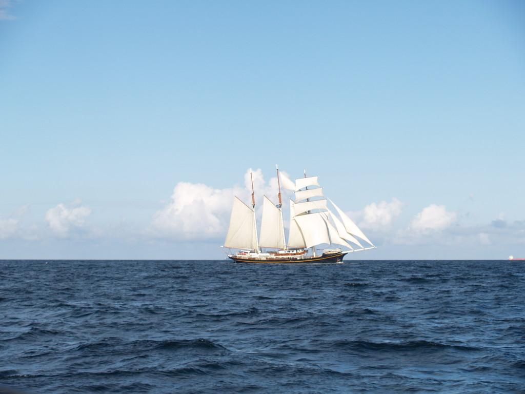Doch noch schönes Segelwetter und ein herrliches Schiff